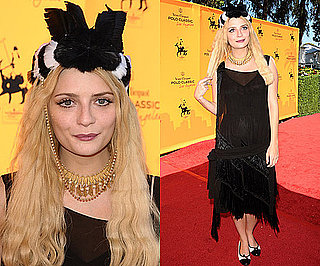Photos of Mischa Barton in a Black and White Furry Hat
