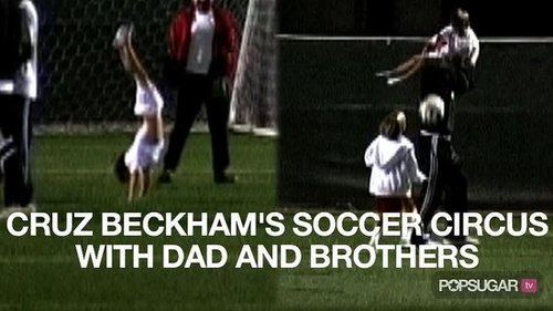 Video of David Beckham Playing Soccer With His Boys 2010-10-11 09:16:36