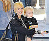 Slide Picture of Ashlee Simpson With Short Hair and Bronx in LA