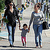 Pictures of Seraphina Affleck Walking With Jennifer Garner to Pick Up Violet Affleck at School