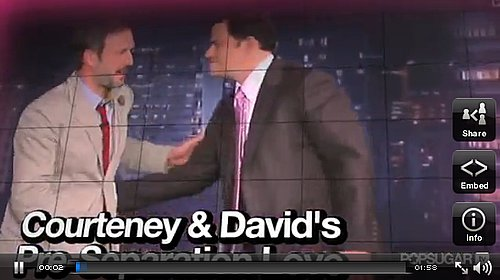 Courteney Cox and David Arquette talking about their relationship before they announced they were splitting