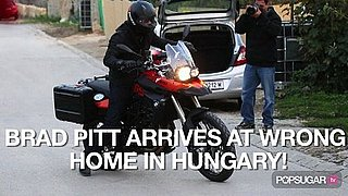 Video of Brad Pitt in Hungary on a Motorcycle 2010-10-12 09:28:13