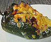 Rice, Chorizo, and Shrimp Stuffed Poblanos
