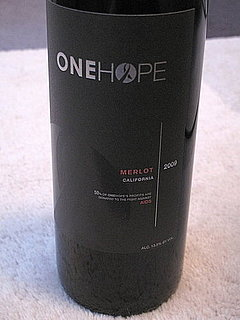 Wine Review: 2008 OneHope California Merlot
