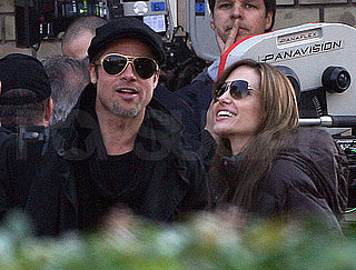 Pictures of Brad Pitt and Angelina Jolie in Hungary