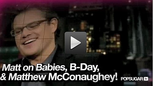 Video of Matt Damon Impersonating Matthew McConaughey