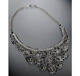 A.V. Max Rhinestone and Beaded Bib Necklace ($88)