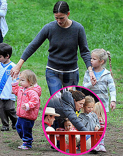 Pictures of Jennifer Garner at Soccer Practice With Violet, Seraphina, and a Petting Zoo