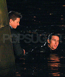 Pictures of Tom Cruise and Jeremy Renner Filming Mission Impossible 4 in River