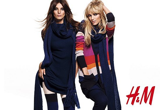 Fab Ad: Daria Werbowy and Anja Rubik Get Cozy Cool For H&amp;M 