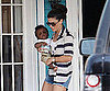 Slide Picture of Sandra Bullock and Baby Louis in Texas