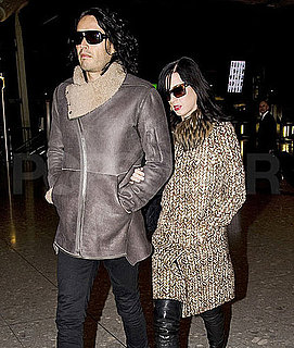 Pictures of Katy Perry and Russell Brand Taking Off For Their Wedding