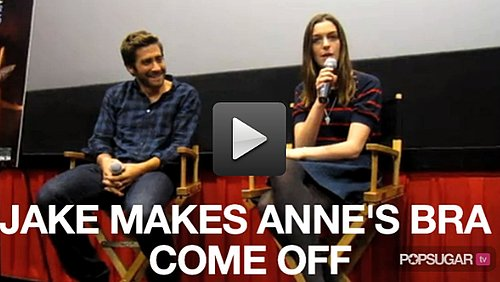 Video: Jake Gyllenhaal Makes Anne Hathaway's Bra Come Off! 2010-10-21 12:50:00