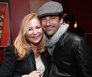 Slide Picture of Jon Hamm and Jennifer Westfeldt in NYC