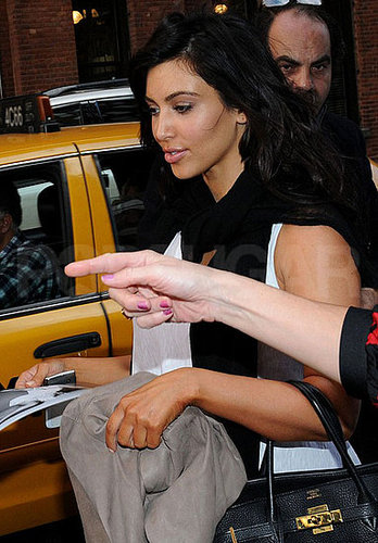 Pictures of Kim Kardashian Leaving a Photo Shoot in NYC