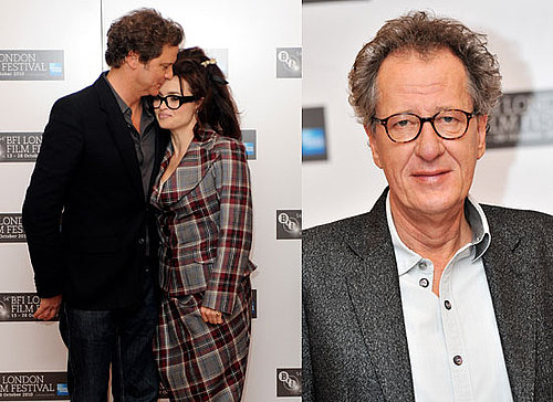Helena Bonham Carter, Colin Firth, Geoffrey Rush at The King's Speech Press Conference London Film Festival