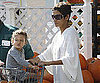 Slide Picture of Halle Berry and Nahla at Grocery Store