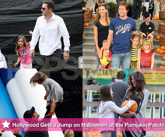 Pictures of Cory Monteith, Amanda Seyfried, Mark Wahlberg, and More Visiting Pumpkin Patches Before Halloween
