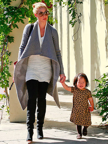 Pictures of Katherine Heigl and Naleigh Kelley Going to the Library in LA