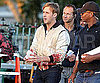 Slide Picture of Ryan Gosling Filming Drive in LA