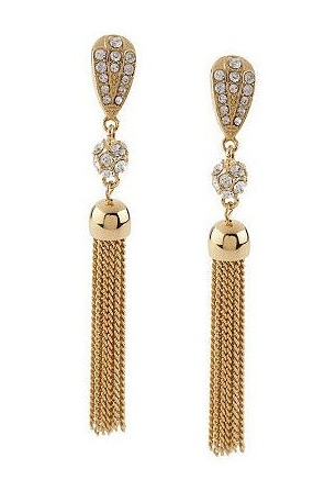 Rachel Zoe Crystal Accent Tassel Drop Earring ($32)