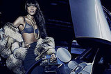Photos of Naomi Campbell Advertising Fur In a Petrol Station