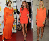Orange Dresses on Beyonce Knowles, Gwyneth Paltrow and Milla Jovovich