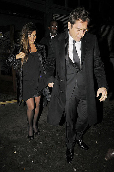 Penelope Cruz and her actor husband Javier Bardem outside Groucho Private Members Club in Soho, London