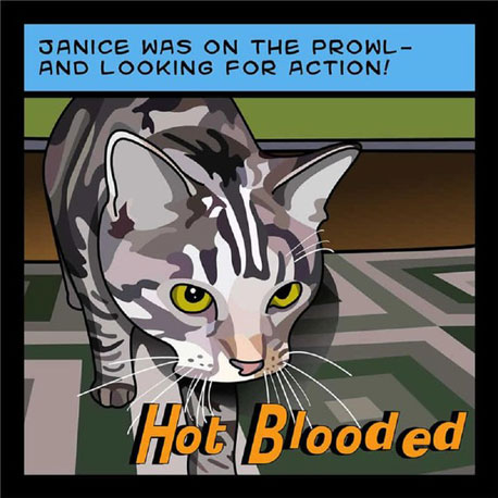 How hilarious is this comic-book-inspired pet portrait ($100)?