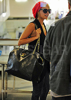 Pictures of Nicole Richie Departing Out of LAX With a Large Chanel Bag