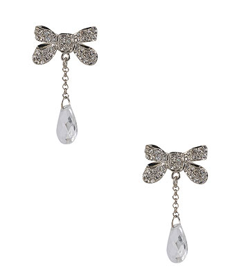 Rhinestone Bow Earrings ($6)