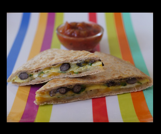 Mexican Egg &amp; Cheese Quesadilla