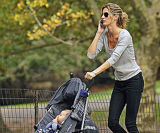Slide Picture of Gisele Bundchen and Ben in Central Park