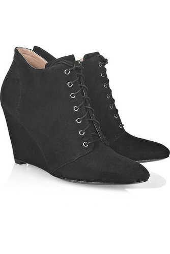 Belle by Sigerson Morrison-Lace-up wedge ankle boots