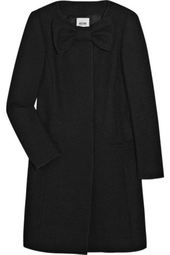 Moschino Cheap and Chic-Bouclé-tweed bow coat