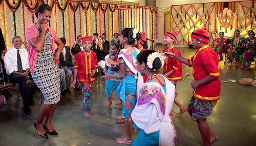 Photos of Michelle Obama Dancing in India
