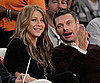 Slide Picture of Ryan Seacrest and Julianne Hough at Lakers Game