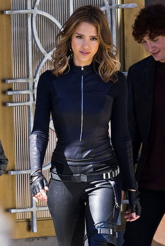 Pictures of Jessica Alba on the Set of Spy Kids 4