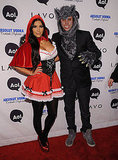 Kim Kardashian dressed as Little Red Riding Hood and enlisted her publicist, Jonathan Cheban, to accompany her as the Big Bad Wolf.