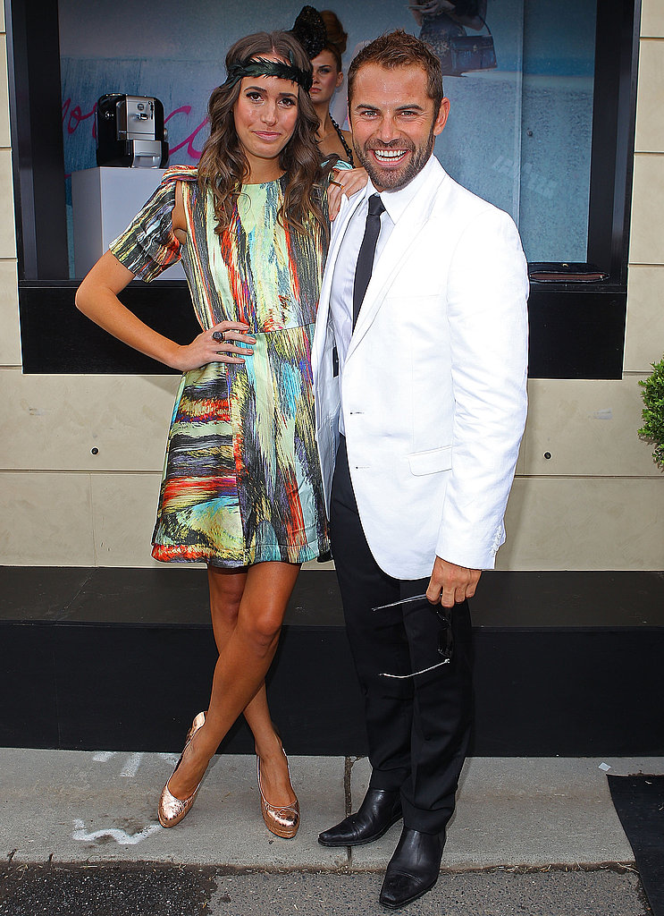 Cute couple alert! Daniel McPherson cuddles up to visiting Louise Roe.