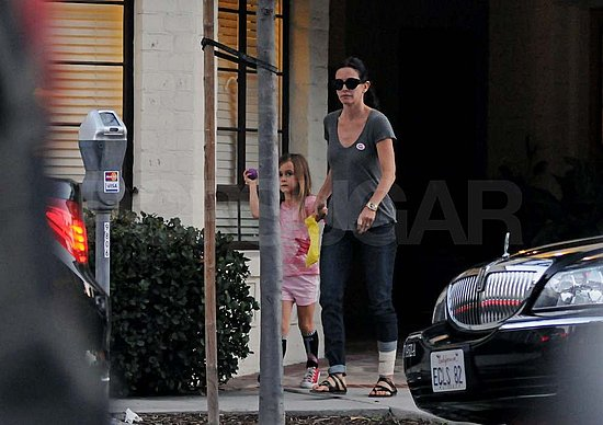 Pictures of Courteney Cox and Coco