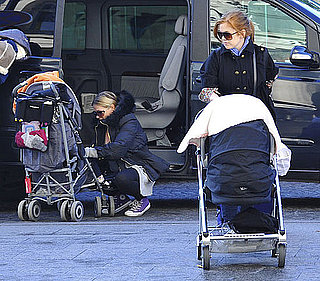 Pictures of Isla Fisher in Paris With Her Two Kids
