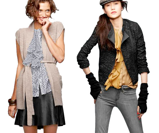 A Lesson in Layering Via Gap's Winter '10 Collection