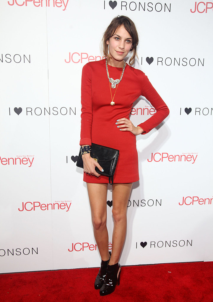 A rare moment in red at a party for Charlotte Ronson for JC Penney last year.