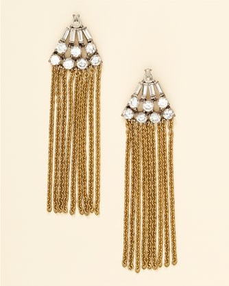 Chain Fringe Earrings, $78