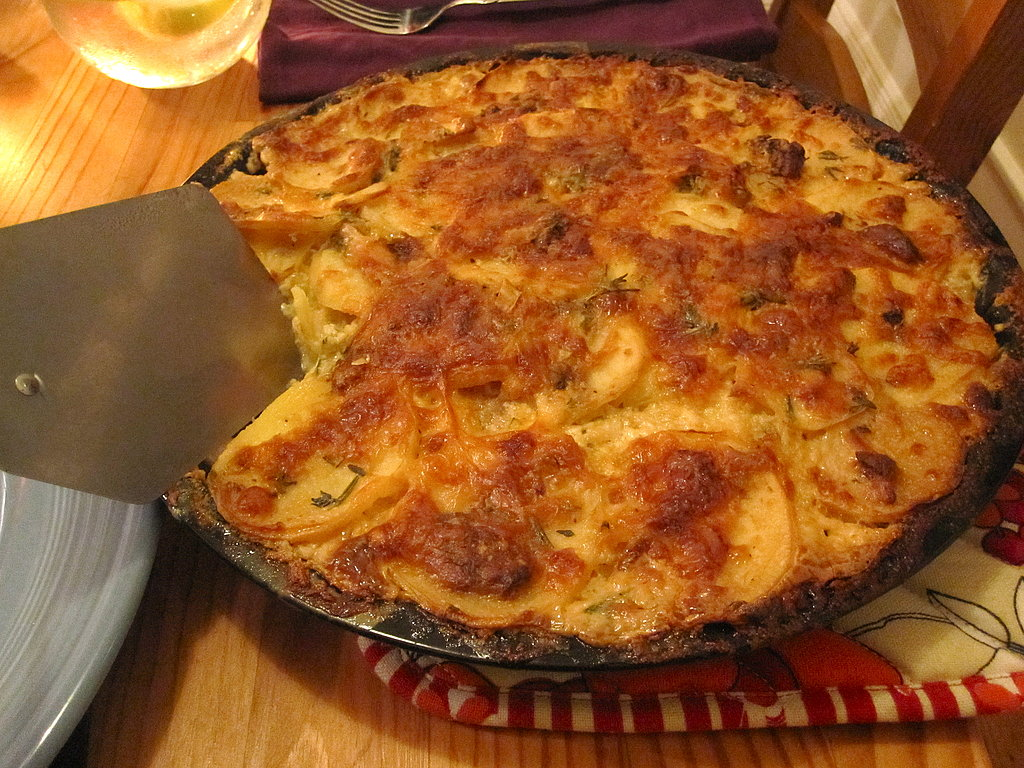 Herbed Potato Gratin With Roasted Garlic and Manchego