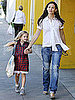 Pictures of Jennifer Garner and Violet Affleck Leaving School in LA 2010-11-04 11:30:00