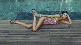 Chanel Iman Strips Down to Her Bikini and Bra For Rosa Cha