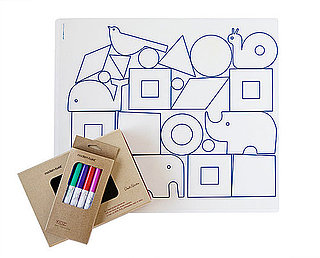 DwellStudio Partners With Modern Twist For Color-On Place Mats For Kids