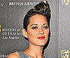 Photos of Marion Cotillard Wearing a Pompadour Up 'Do at the 2010 Britannia Awards in LA